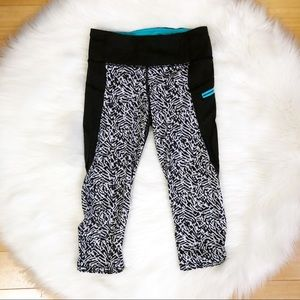 Lululemon Run: Top Speed Crop Brushed Animal Sz 4